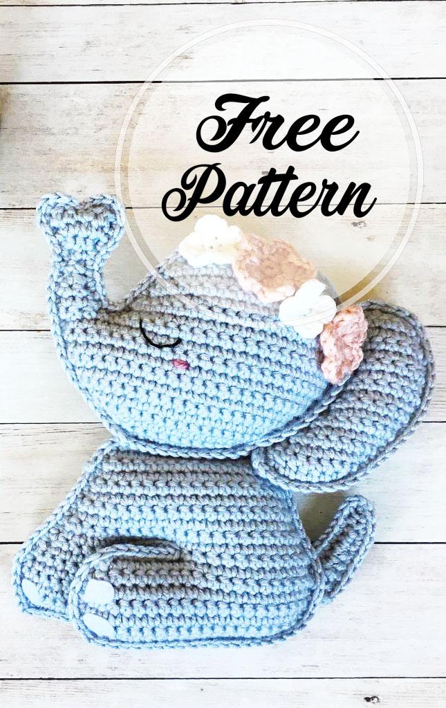 Elephant Amigurumi Free Crochet Pattern • Spin a Yarn Crochet | 1024x645