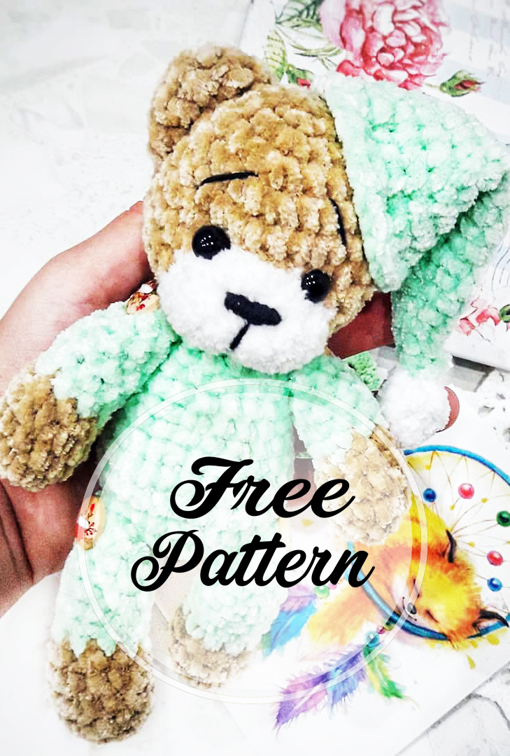 crochet-amigurumi-ours-en-peluche-en-pyjama-modele-libre