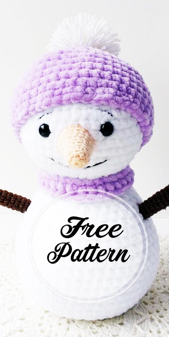 crochet-bonhomme-de-neige-amigurumi-modele-libre