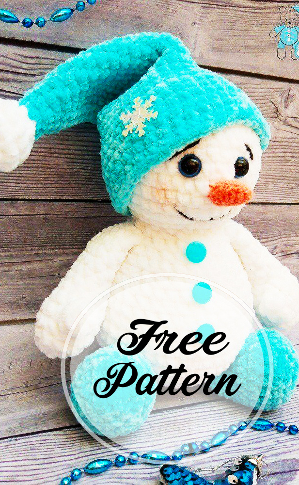 crochet-peluche-bonhomme-de-neige-amigurumi-modele-libre